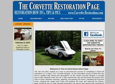 The Corvette Restoration Page