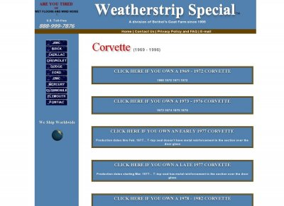 Corvette Weatherstrip Special